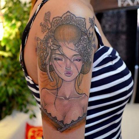 10 Tatuajes De Geisha Que Querrás Tener