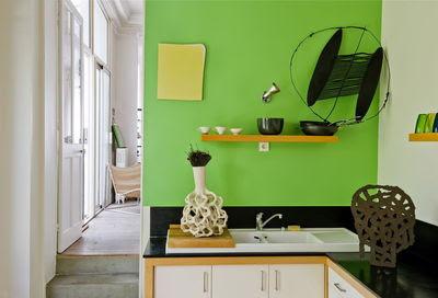 Decoration Peinture Vert Pomme Idées De Travaux
