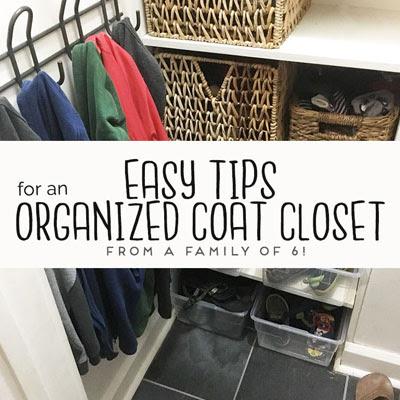 coat closet organizing tips large family