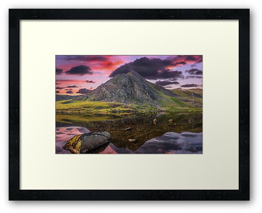 'Tryfan Mountain Sunset' Framed Print by Adrian Evans