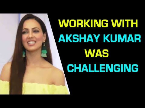 Working With Akshay Kumar Was Challenging Says Sana Khan | Toilet Ek Prem Katha