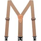 Perry Suspenders Men's Tall Elastic Hook End Suspenders, Tan