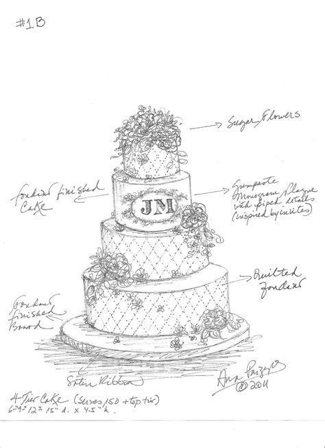 Pin by Mara Lugo on Cake sketch   Cake sketch, Wedding