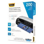 Fellowes Laminating Pouches, Hot Pouch, 9 x 11.5, 3 mil, 200 pack (FEL5743401)