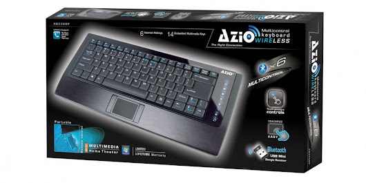 Azio slim wirless keyboard | GadgetSarc