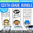 End of the Year Activity Sixth Grade Brochures Bundle