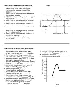 34 Potential Energy Diagram Worksheet Answer Key - Wiring ...
