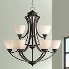 "Possini Euro Design T6755 Milbury Collection Dark Bronze 9-Light 30"" Wide Chandelier"