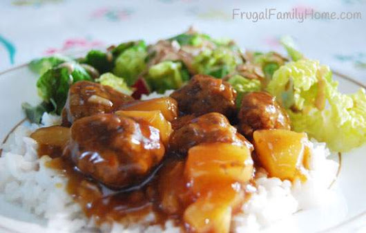 Easy Dinner Recipe, Teriyaki Meatballs