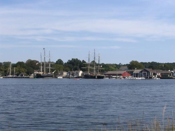 Mystic seaport sailboats