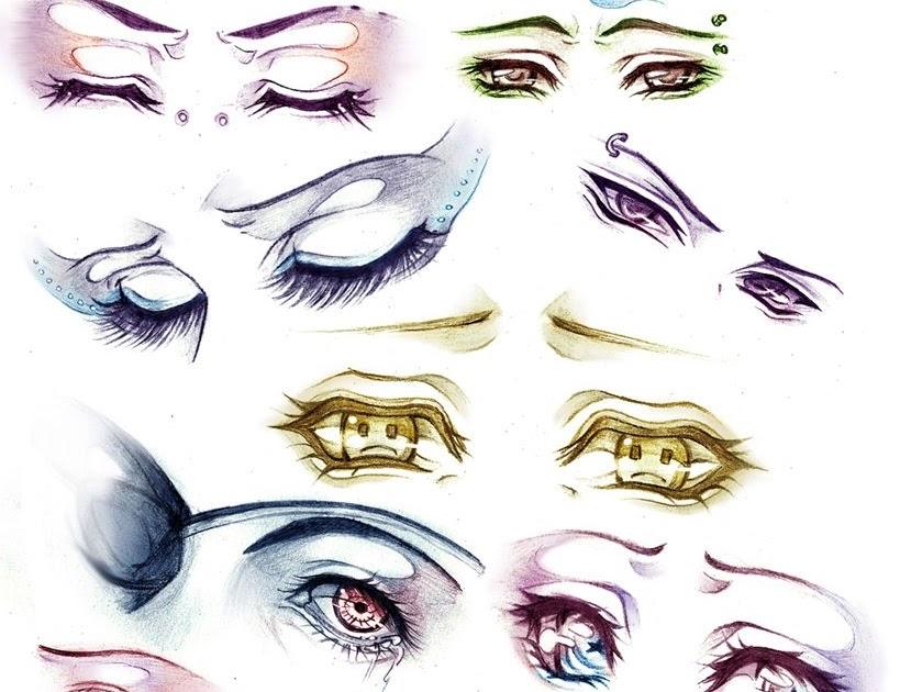 Sad Anime Eyes Drawing