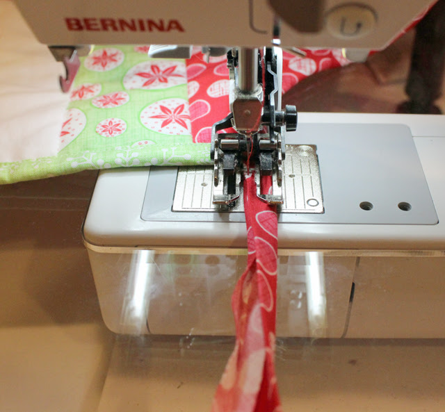bias binding stitch ending