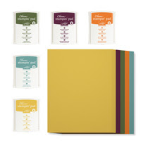 "2014-2016 In Color 8-1/2"" X 11"" Cardstock And Classic Ink Pads Kit"