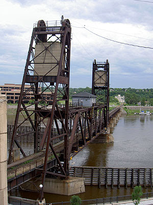 Lift Bridge in downtown Saint Paul