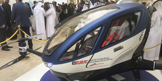 Drone Flying Cars Will Soar Over Dubai This Summer