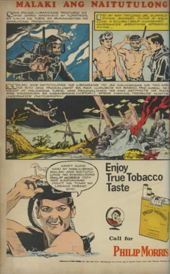Filipino Philip Morris cigarette advertisment