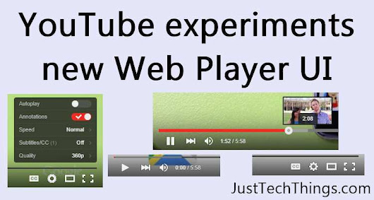 Youtube's New Video Player UI – Bolder, Smoother and Sexier