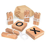 Trademark Innovations Giant Wooden Tic Tac Toe Backyard Game