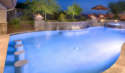 Swim Up Bars | Phoenix Landscaping Design & Pool Builders, Remodeling