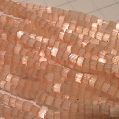66040000 Czech Seedbeads - 10/0 2-cut Seedbeads - Dyed Satin Light Orange [Solgel] (hank)