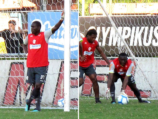 Borja no treino do Flamengo