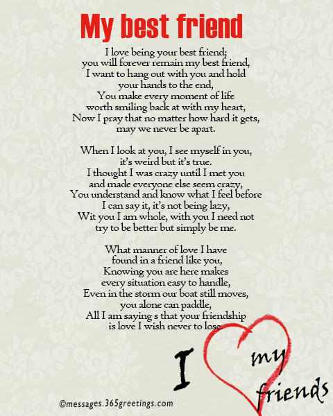 Poems friendship and love 58 Absolutely