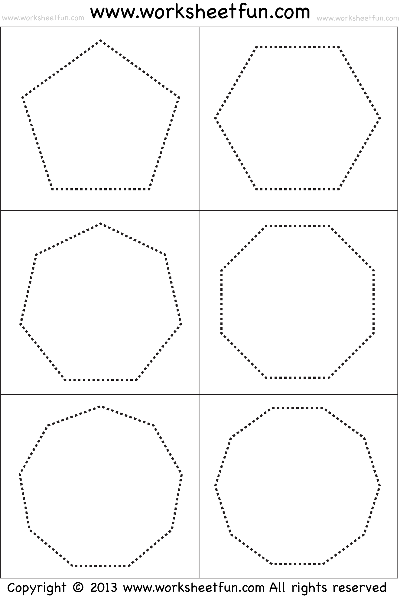 thebrownfaminaz: Octagon Worksheet For Preschoolers