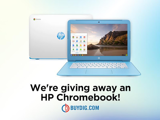 Buydig is giving away a HP Chromebook Laptop!