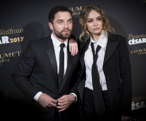 Lily-Rose Depp e  Guillaume Gouix (Foto: Francois Durand/Getty Images)
