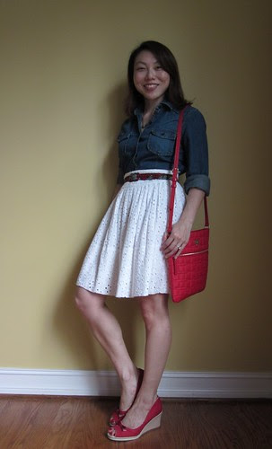 red, white & chambray