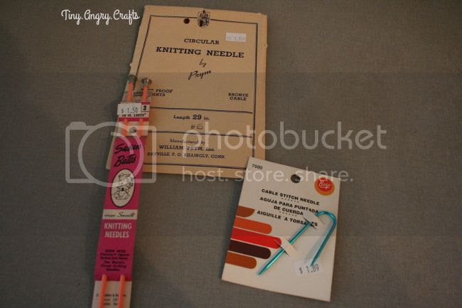 TinyAngryCrafts, notions purchases, vintage knitting needles