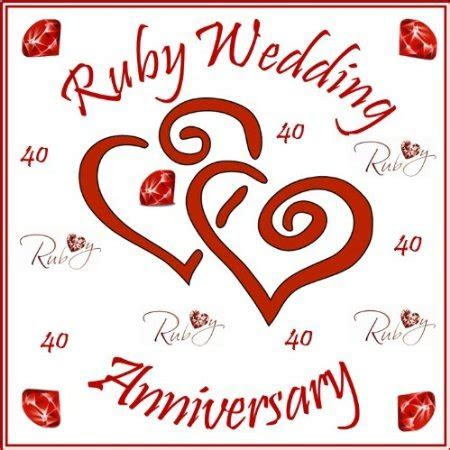 Stafford Ruby 40th Wedding Fascinating Ruby Wedding