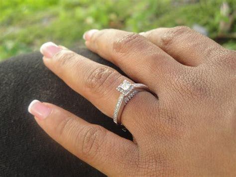 Beautiful Princess Cut Diamond Engagement Ring Photos