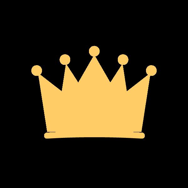 縁無しでかわいい王冠の無料イラスト商用フリー オイデ43