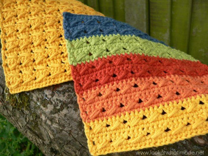 Cable Stitch Trapos de cocina Cómo Crochet: Cable Stitch