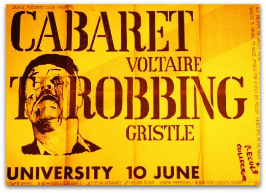 Cabaret Voltaire and Throbbing Gristle, Sheffield University. Tuesday 10th June 1980.