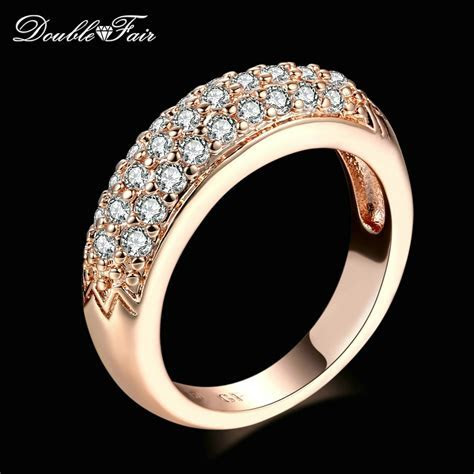 Cubic Zirconia Engagement Rings Wholesale Rose Gold/Silver
