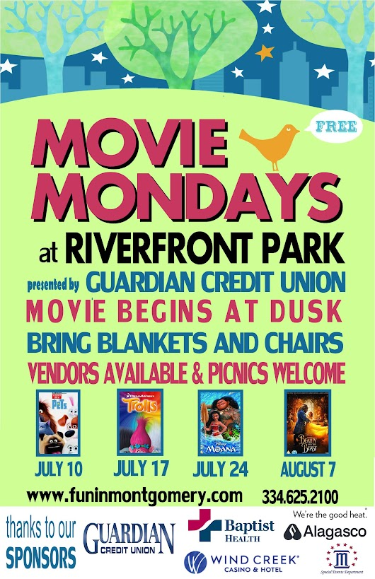 Movie Mondays - Montgomery Alabama - Convention & Visitor Bureau