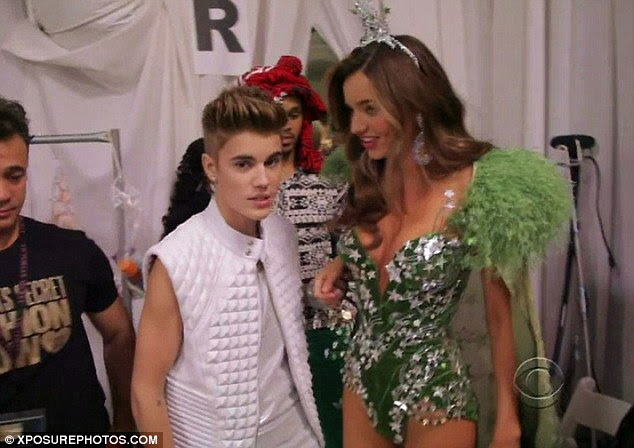 Revenge is sweet: Justin Bieber was in a long-term relationship with Selena and Miranda Kerr was married to Orlando when this picture was taken in December 2012