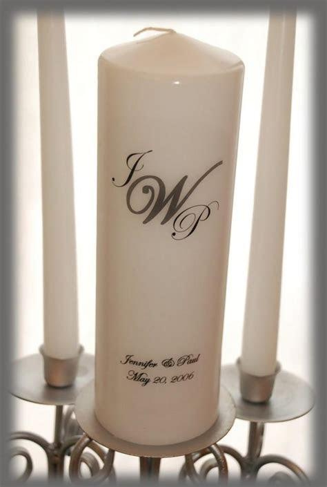 Personalized Monogram Unity Candle SET, Wedding Candles