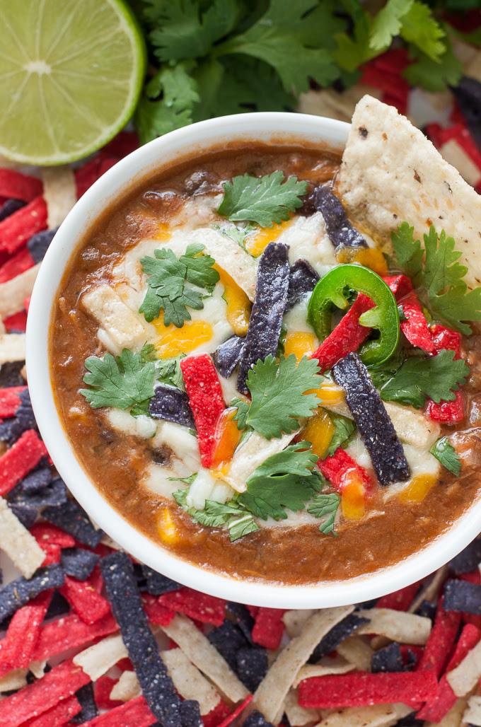 Crock-Pot Chicken Tortilla Soup | Peas & Crayons