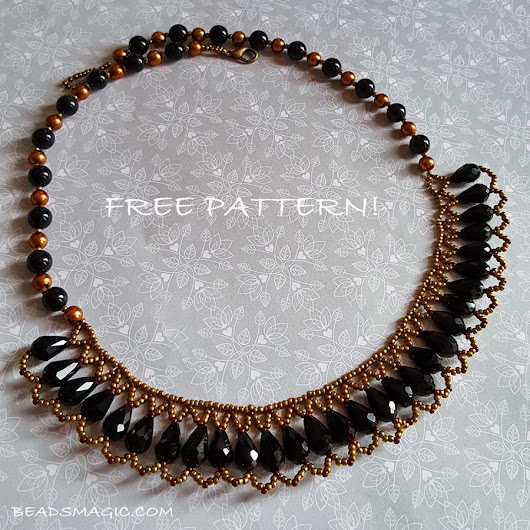 Free pattern for necklace Gwen