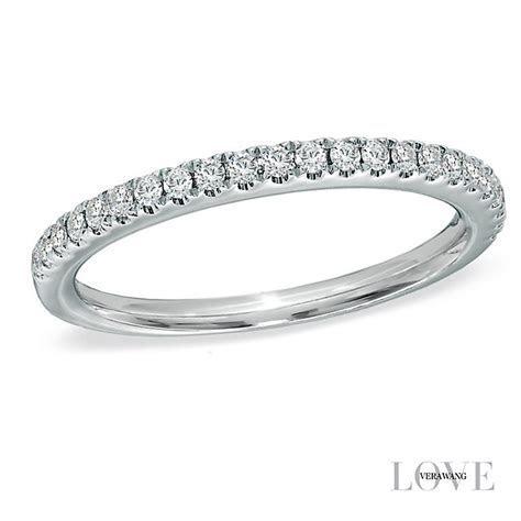 Vera Wang platinum 0.23ct diamond wedding band   Ernest Jones