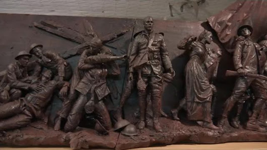 Sculptor designs national World War I memorial in his Bronx studio