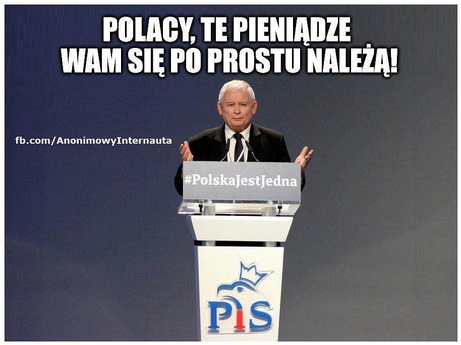 Znalezione obrazy dla zapytania Obietnice PiS Memy