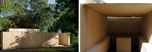 an underground concrete biennale chapel
