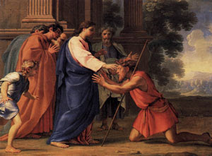 Image result for Images of Jesus healing a man with an unclean spirit