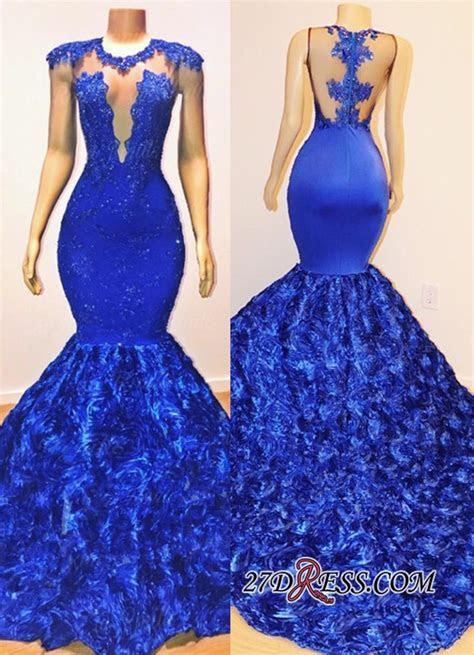 Glamorous Royal Blue Mermaid Long Evening Gowns   2019