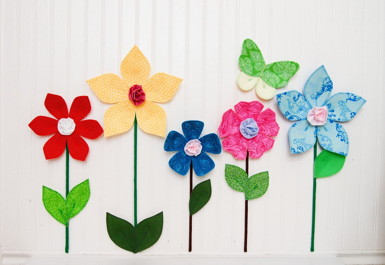 fabric wall flower. 3d wall decor. flowers. yellow