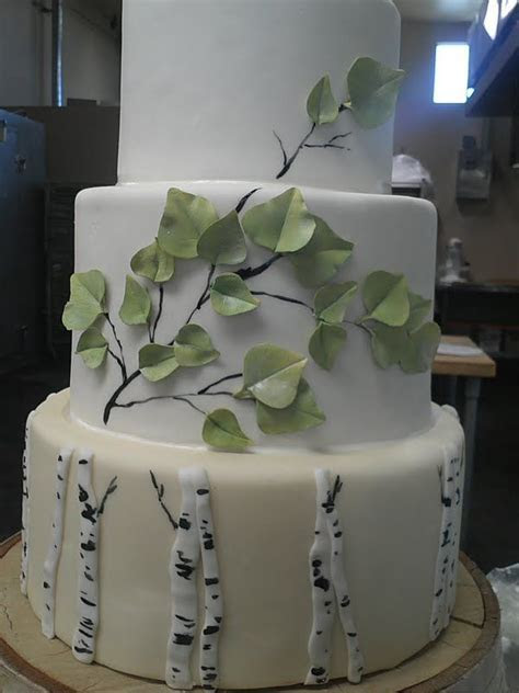Aspen Tree Cake Montana Wedding   Wedding ideas   Tree